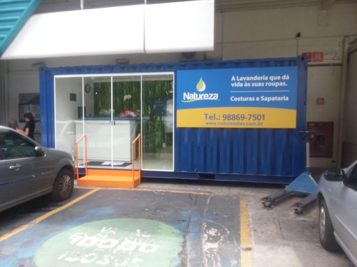 Stand de vendas / Container lavanderia