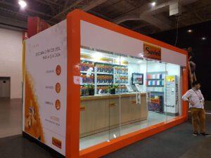 Container Stand de vendas para feira